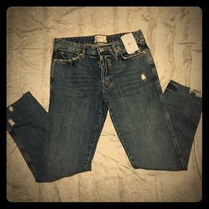 High wasted Free People  jeans NWT